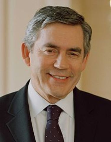 Gordon Brown elected Prime Minister of England
