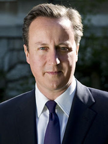 David Cameron elected Prime Minister of England