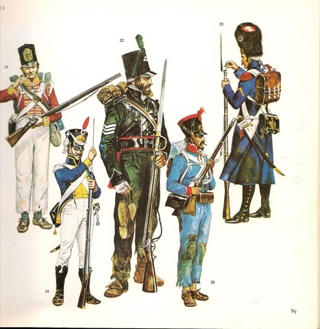 marcha de las tropas francesas hacia el frente ruso