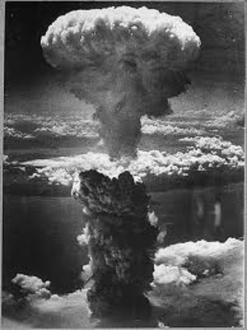 United States droped two atomic bombs in Hiroshima and Nagasaki