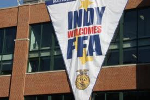 The National FFA convenction was help in Indianapolis, Indiana