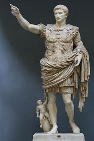 Octavian obtains the name Augustus