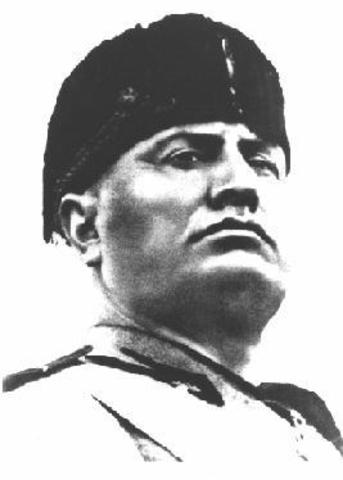 Mussolini becomes dictator of Italy