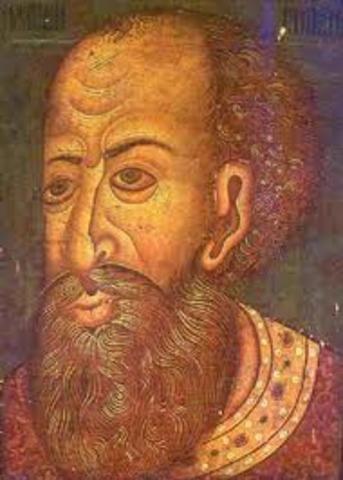 The birth of Ivan IV (Ivan the Terrible)