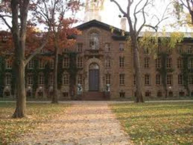 Enters Princeton University