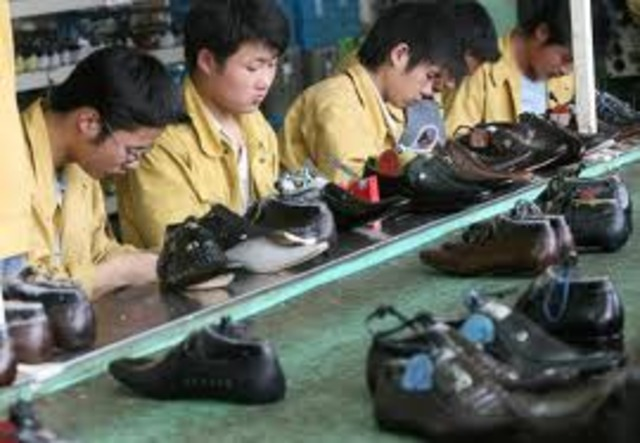 travled to china where his flip flops were made.