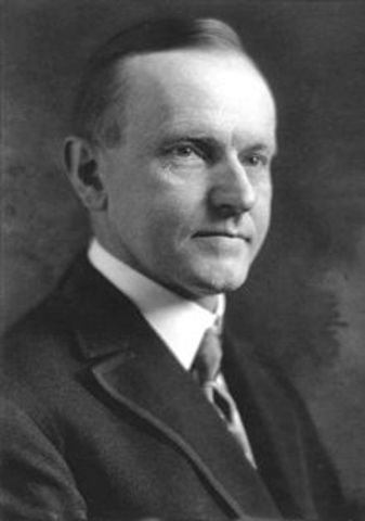 Calvin Coolidge becomes president.