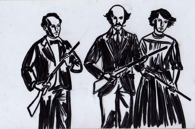 Los hermanos Serdán, Aquiles, Máximo y Carmen