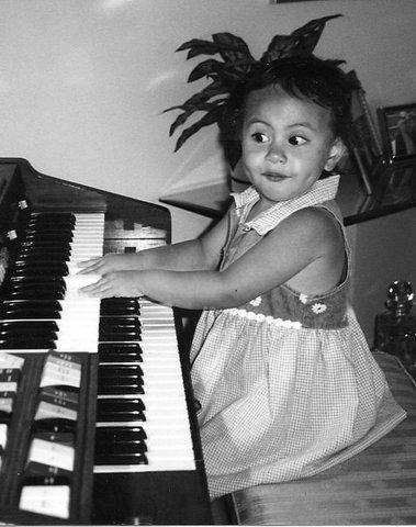 Empecé a tocar el piano.