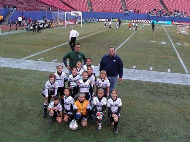 Jugué fútbol en el Estadio de Los Giants
