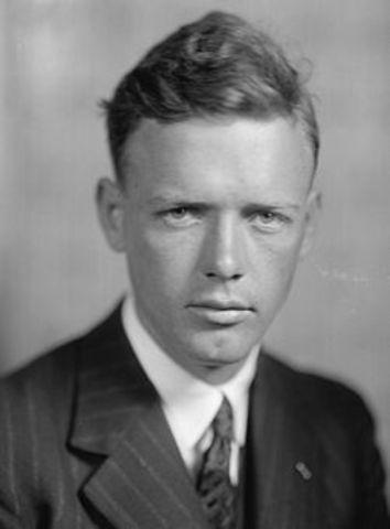 Lindbergh made first flight across the Atlantic.