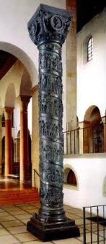 Column with relief works