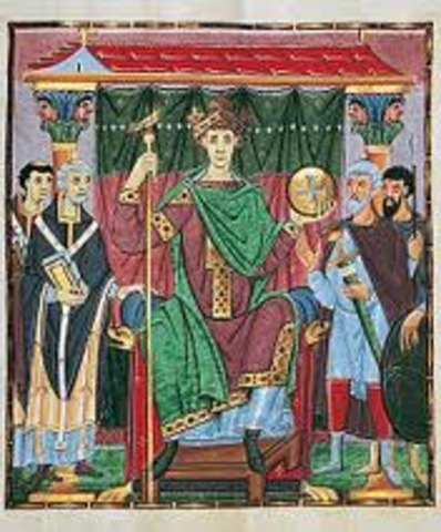 Otto III enthroned