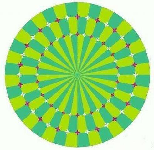 Akiyoshi Kitaoka- Иллюзия движения.