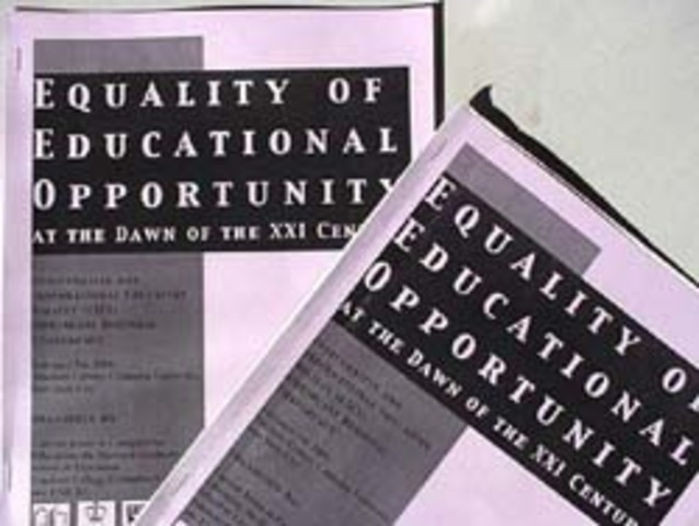 """James Coleman publishes """"Equality of Educational Opportunity"""""""