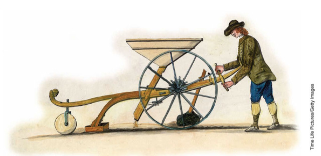 Jethro Tull invents the seed drill