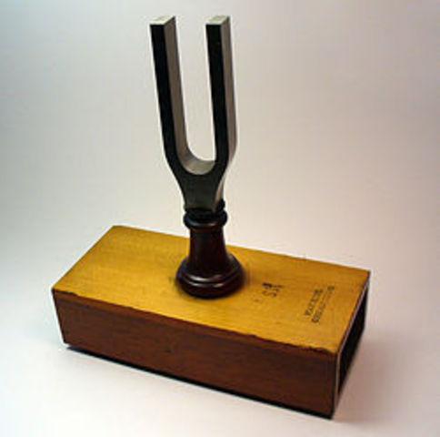 Englishmen, John Shore invents the tuning fork.