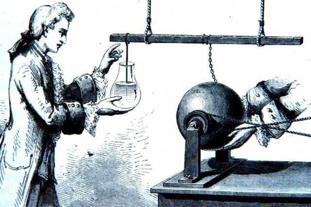 E.G. von Kleist invents the leyden jar, the first electrical capacitor.