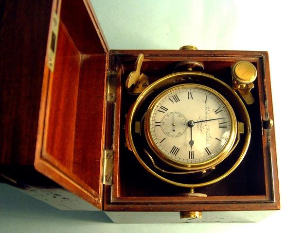 Englishmen, John Harrison invents the navigational clock or marine chronometer for measuring longitude.