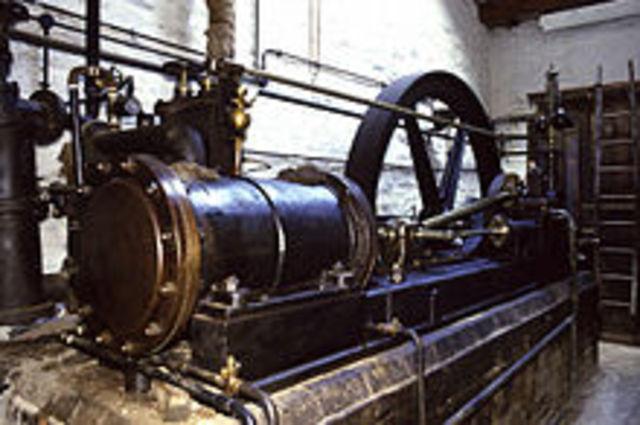 James Watt invents an improved steam engine.