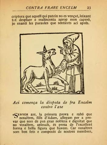 Disputa de l'ase contra frare Anselm Turmeda sobre la natura e noblesa dels animals - Fra Anselm Turmeda
