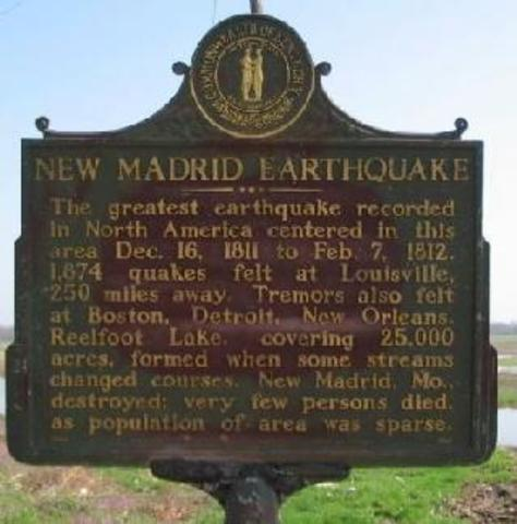 Today in Earthquake History: New Madrid