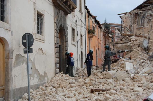 Damage after the 2009 L'Aquila earthquake