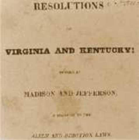 Virginia and Kentuckey Resolutions