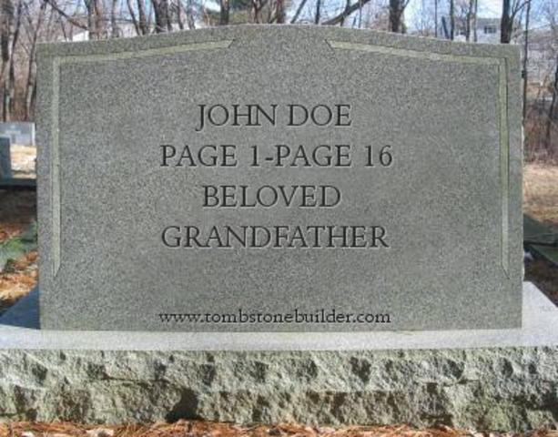 Narrator's Grandfather Dies