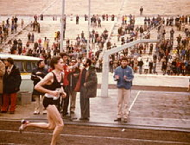 Tony Sandoval wins the U. S. Olympic Marathon trials