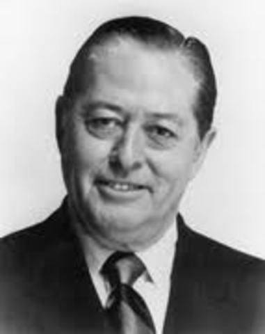 United States Senator Dennis Chávez died