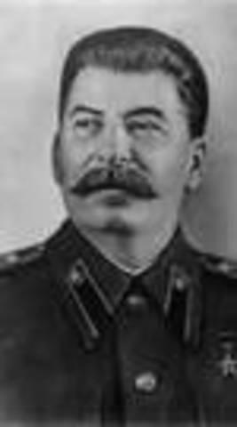 Josef Stalin sole dictator of the Soviet Union (USSR)