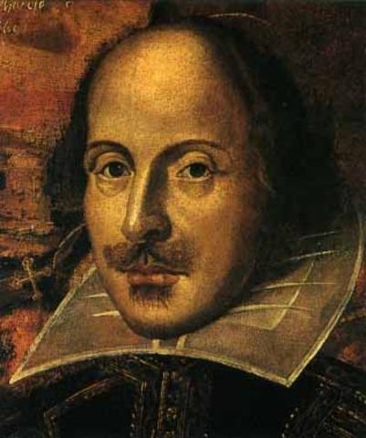 The birth of William Shakespeare