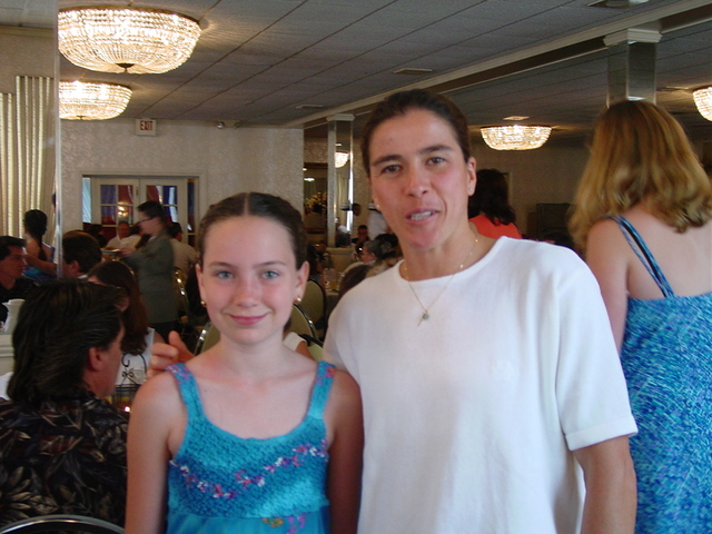Graduated from elementary school.  Olympic Gold Medalist, Sheila Taormina came and brought her gold medal for us all to try on.  Here is a photo of us.