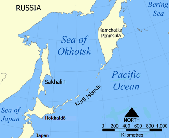 in SEA OF OKHOTSK