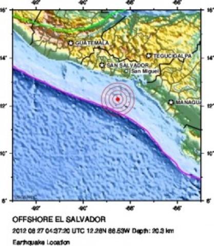 Honduras Pacific Coast shaken by 7.3 Earthquake