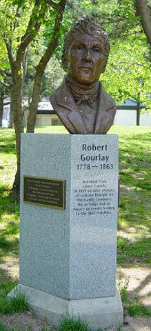 Robert Gourlay est arrete apres avoir critique les politiques foncières du Haut-Canada