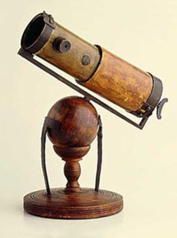 Presents Reflecting Telescope to Royal Society