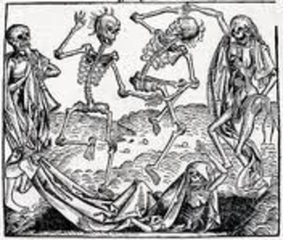 Black Death Spreads.
