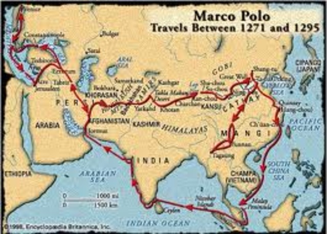 Marco Polo Travels Across Europe and Asia
