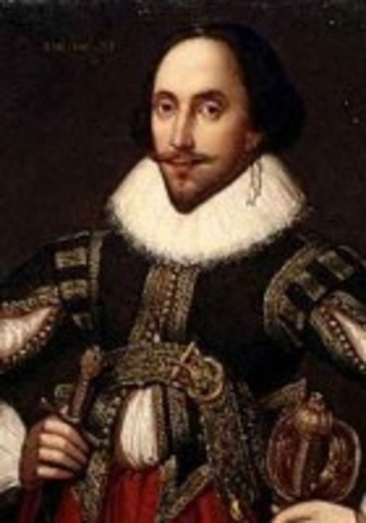 Shakespeare at the top of a list of actors