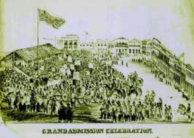 California Enters the Union