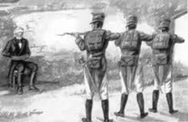 Hidalgo es fusilado
