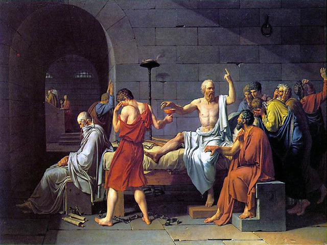 "David Paints the ""Death of Socrates"""