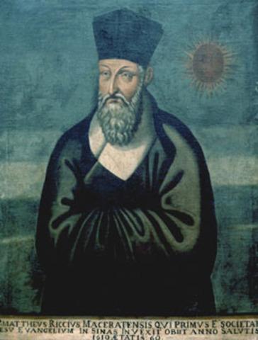 Matteo Ricci traveled to China