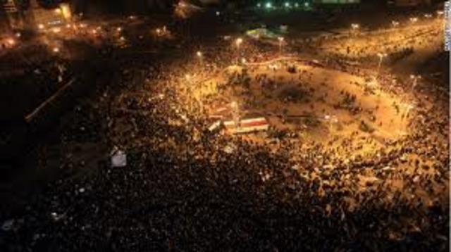 Mass Demonstrations Erupt in Egypt