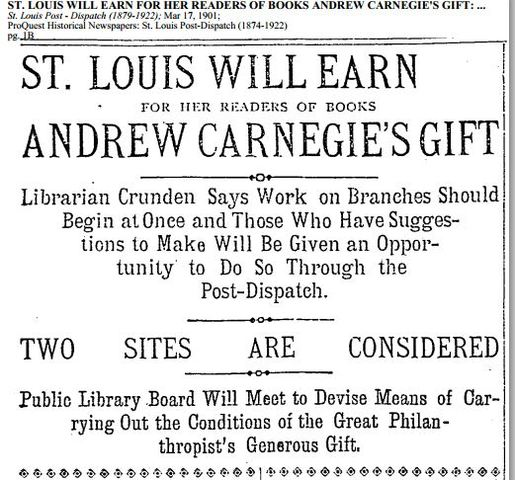 Carnegie's Offer is Accepted