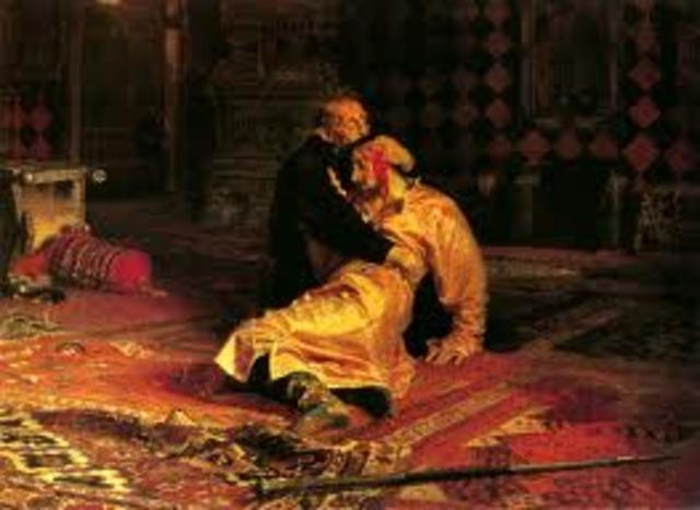 Ivan the terrible kills own son.