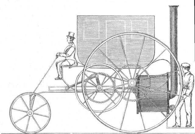 First Steam-powered Carriage