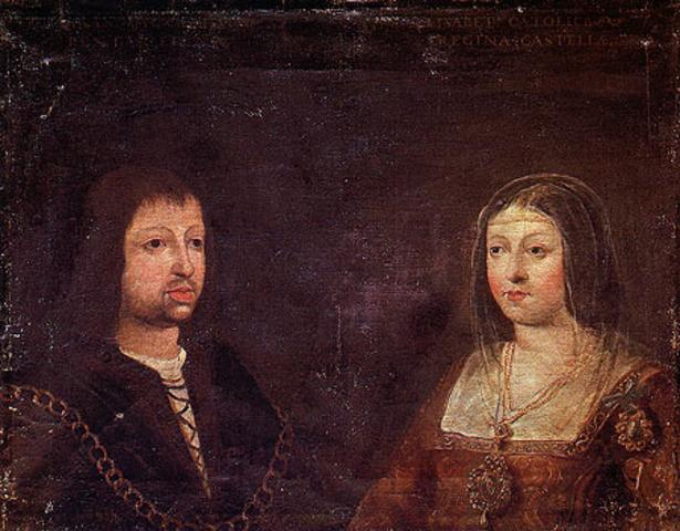 Ferdinand Of Aragon marries Isballa of Castille